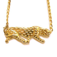 Golden Panther Necklace