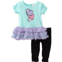 Flapdoodles Baby-girls Infant Heart Ballerina Dress Set