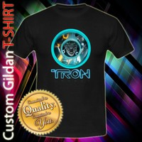 Tron Legacy Light Cycle Movie Film Logo Custom Black T-Shirt Size S-XXL