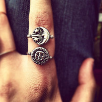 Reversible Sterling Silver Sun/Moon Ring // FREE SHIPPING