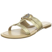 Tignanello Footwear Women`s Mead T-Strap Sandal,Gold,8 M US