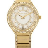 Michael Kors - Kerry crystal-embellished gold-tone watch