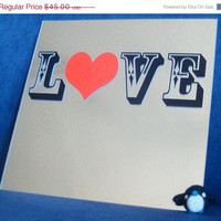 ON SALE Love mirror - L O V E - typography art