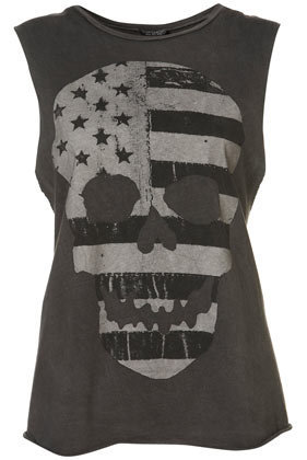 Flag Skull Tank - Jersey Tops  - Apparel