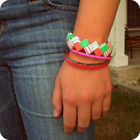 Summer Fun Zigzag Melon Breeze Bracelet - Ziggibandz