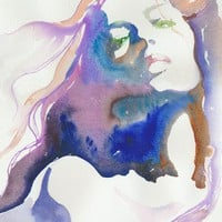 Watercolour fashion Illustration  Magique 13x by silverridgestudio
