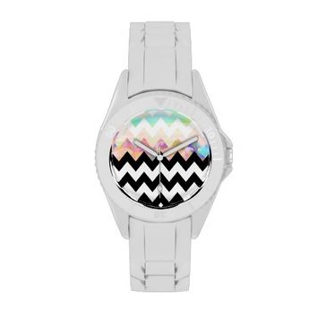 White Magic - Chevron Wrist Watch