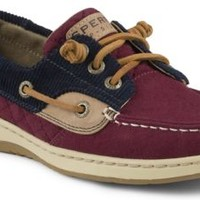 Sperry Top-Sider Ivyfish Quilted 3-Eye Boat Shoe Red/Navy, Size 7.5M  Women's Shoes