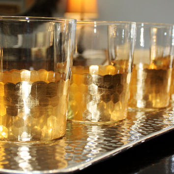 Gold Leaf Tumbler - Cocktail Glasses