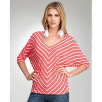 Mitered Stripe Dolman Top
