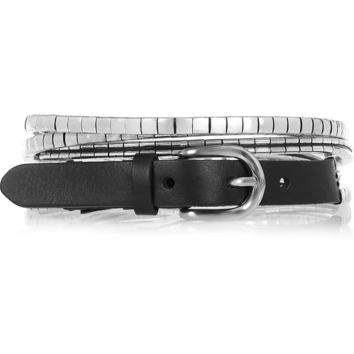 Isabel Marant - Leather and silver-tone multi-strand belt