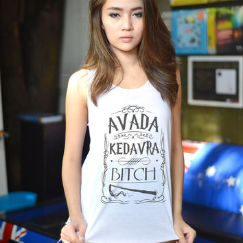 Harry Potter Magic Spell Shirt Avada Kedavra Tank Top