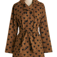 ModCloth Darling Long Long Sleeve Love to Amble Coat