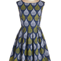 Dear Creatures Mid-length Sleeveless Dropping By for a Visit Dress