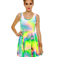 SYM Rainbow Velvet Dress - Tye Dye Dress - Tank Dress - $68.00