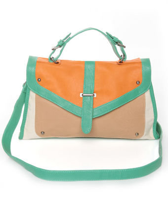 Cute Color Block Purse - Orange Purse - Mint Purse - $43.00