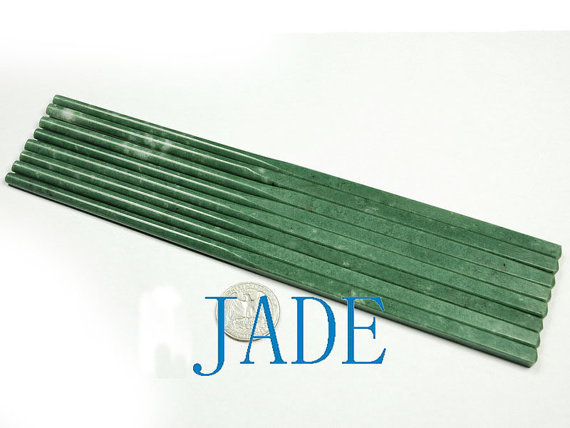 Free shipping - Vintage  4 Pairs Genuine Natural  green Jade carved  jade Chopsticks