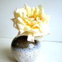 Earthy Stoneware Bud Vases by NewMoonStudio on Etsy