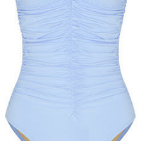 Karla Colletto | Smart ruched bandeau swimsuit | NET-A-PORTER.COM