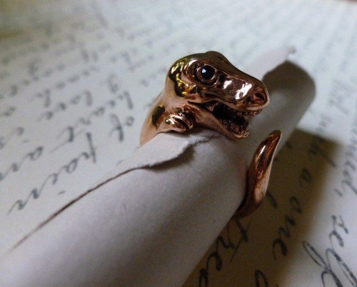 Rose Gold Dinosaur Ring 6-7