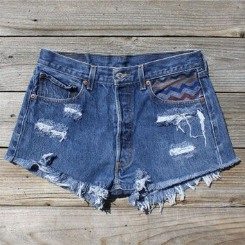Vintage 70's Chevron Shorts, Sweet Country Inspired Vintage Clothing