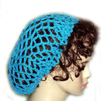 Crochet Snood Blue