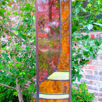 Organic Modern Stained Glass, STRAIGHT UP MOD