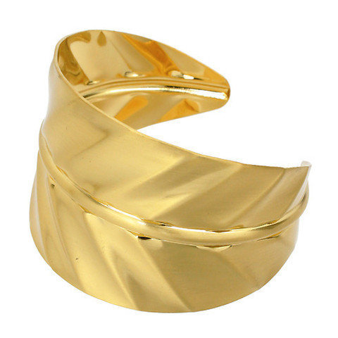 Pree Brulee - Gold Leaf Motif Cuff