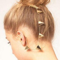 Pyramid Hair Comb Ear Cuff Earring (Single) | LilyFair Jewelry