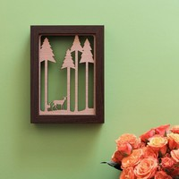 Deer in the Forest  Wood Wall Art by peppersprouts on Etsy