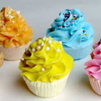 Lemon & Tutti Fruity Cupcake Bath Fizzie