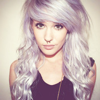 ICING Purple Lavender Lilac Hair // Deluxe FULL SET Extensions // Clip-In // Human Hair