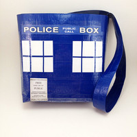 Doctor Who TARDIS Duct Tape Purse TARDIS Bag