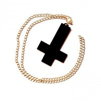 Inverted Cross Necklace  |  Dark Moon Boutique