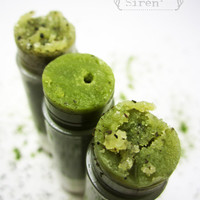 Organic Lip Scrub NEW - Matcha Tea Sugar Scrub - &quot;Green Ice&quot; Organic Tea flavor