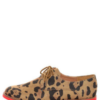 Madden Girl Jacobz Leopard Red Sole Lace-Up Oxfords - $48.00