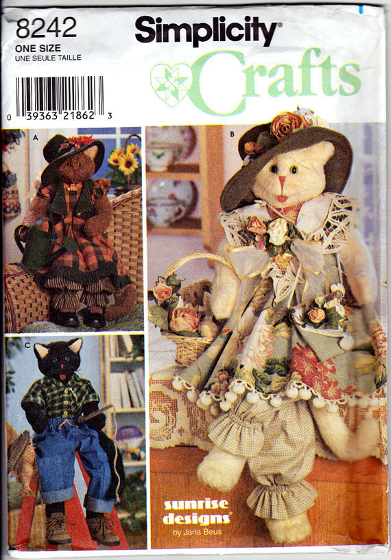 Pattern: Simplicity Crafts 8242 - 30 inch Cat With Clothes