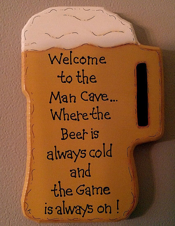 Hand Painted Man Cave Signs : Hand painted wooden beer mug man cave from kimgilbert on etsy