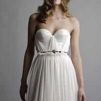 Annie Silk Strapless Wedding Gown by Red Doll