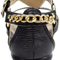 fredflare.com | black gold chain sandals - Stylehive