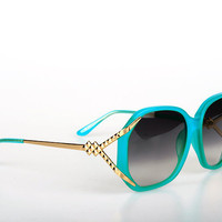 Linda Farrow/Matthew Williamson Sunglasses in Turquoise | Women&#x27;s Fashion Shopping Online | DOLL BOUTIQUE