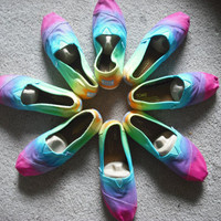 Tie dye Custom Toms shoes
