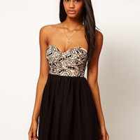 Motel Anali Lace Bandeau Dress at asos.com