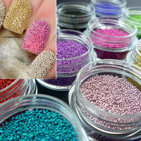 Caviar Nail Art - 12 Colours Pink Blue Lilac