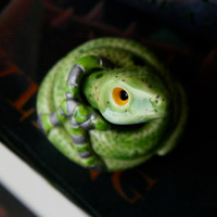 Parsel the Slytherin Snake: Harry Potter Inspired Owlery Clay Miniatures