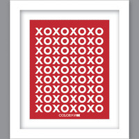 Sale 25% Off - Print XOXO XOXO (8X10)