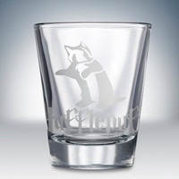 Hufflepuff Logo Shot Glass