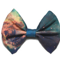Galaxy Printed Hair Bow (S, M, or L) (version 2) (only 1 small available for the next 2 weeks)