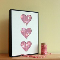 DIY Craft Kit Hand Cut Framed Heart.. on Luulla