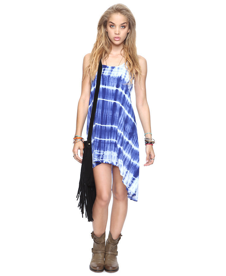 Crisscross Tie-Dye Dress